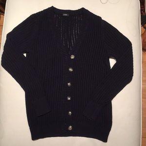 J. Crew Navy Cardigan/Button Down Sweater